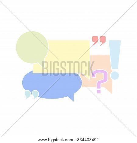 Chat Box Logo Comments Forum Dialog Communication Symbols And Punctuation Marks