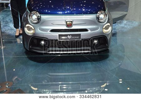 Geneva, Switzerland, March 06-2018: Abarth 695 Rivale At Gims