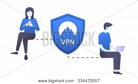 How A Virtual Private Network Works Scheme
