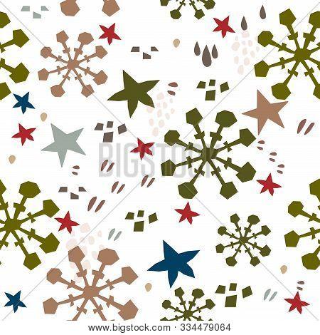 Terracotta Abstract Seamless Pattern. Modern Digital Design. Modern Fashion Scandinavian Style. Cont