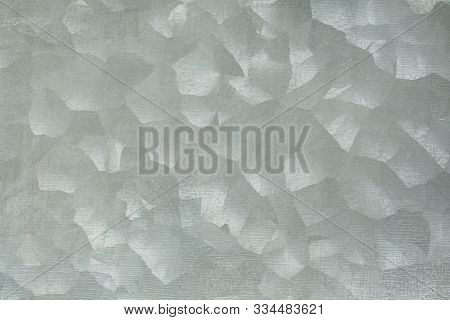 Metal Background In Silver Color With Texture. Galvanized Sheet Metal. Industrial Background