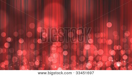 red Light Burst over curtain like abstract image with bokeh poster