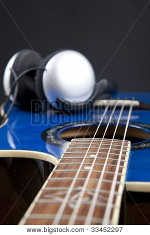 Guitar And Headphones
