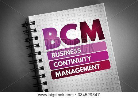 Bcm - Business Continuity Management Acronym, Business Concept