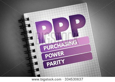 Ppp - Purchasing Power Parity Acronym, Business Concept Background