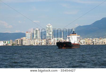 Cargo Ship At Izmir
