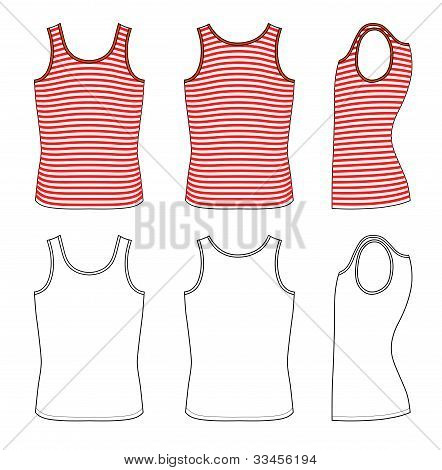 Red-white striped vest