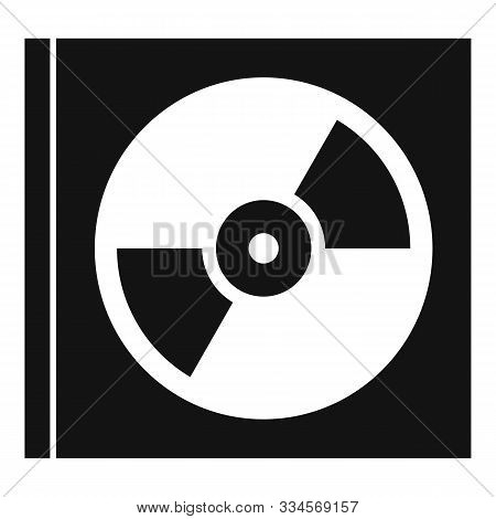 Music Cd In Box Icon. Simple Illustration Of Music Cd In Box Vector Icon For Web Design Isolated On