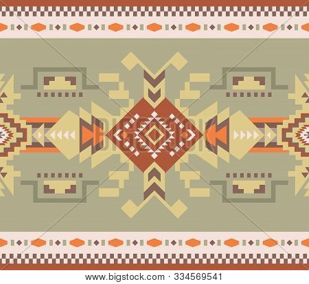 Aztec, Navajo Geometric Seamless Pattern. Native American Southwest Print.  Ethnic Design Wallpaper,