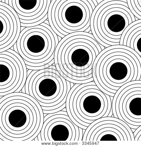 Black Outlined Dots