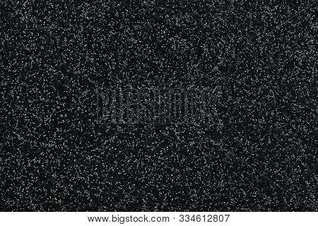 Black And White Background. Texture Matte Dark Texture With Star Dust.