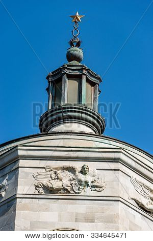 Detail Of The Temple Of Victory, 1928 (tempio Della Vittoria, Italian), It Commemorates The Citizens