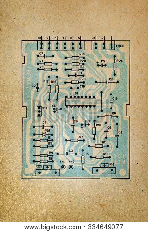 Electronic Paper Schematic Diagram Of Retro Television.