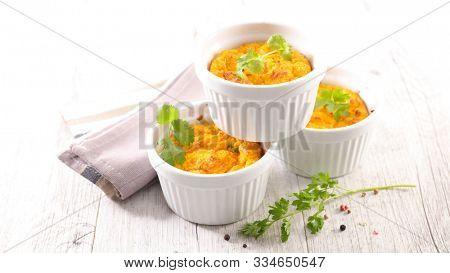 carrot flan or souffle, gourmet appetizer