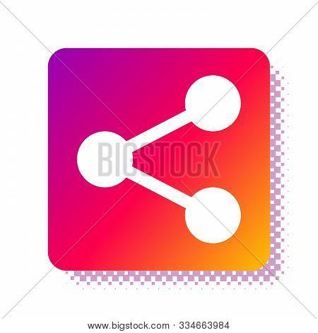 White Share Icon Isolated On White Background. Share, Sharing, Communication Pictogram, Social Media