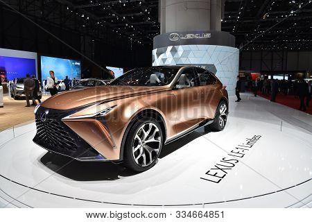 Geneva, Switzerland, March 06-2018: Lexus Lf-1 Limitless Concept At Gims