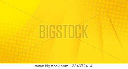 Abstract Bright Yellow Background. Pop Art Background. Vector Dotted Background.