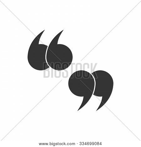 Double Quote Mark Icon. Vector Icons. Left And Right Quote Mark. Quotation Mark Symbols