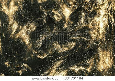 Black And Gold Festive Shimmering Background