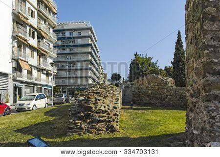 Thessaloniki, Greece - September 22, 2019: Ruins Telli Kapi In The Center Of City Of Thessaloniki, C
