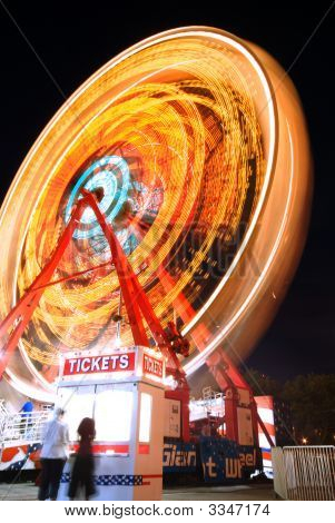 Ferris Wheel And Ticket Stand