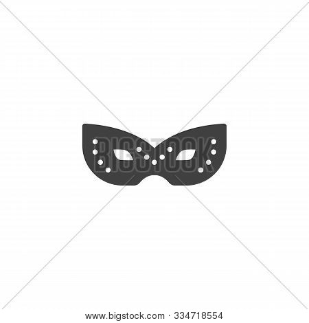 Strange Mask Vector Icon. Filled Flat Sign For Mobile Concept And Web Design. Carnival Mask Glyph Ic