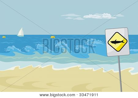 Seascape With Warning
