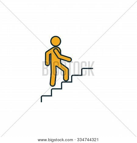 Stairway Up Icon. Simple Element From Shopping Center Sign Icons Collection. Creative Stairway Up Ic