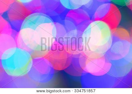 Bokeh Light Vintage Background. Defocused Bokeh Lights. Christmas Xmas Festive Lights Bokeh Backgrou