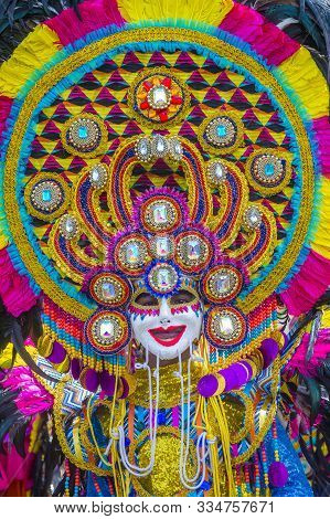 Bacolod , Philippines - Oct 28 : Participant In The Masskara Festival In Bacolod Philippines On Octo