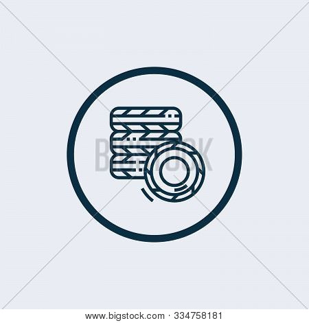 Tire Icon Isolated On White Background. Tire Icon Simple Sign. Tire Icon Trendy And Modern Symbol Fo