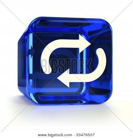 Blue Sync Icon