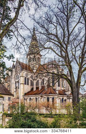Collegiate Church Notre-dame Of Semur En Auxois, Framce