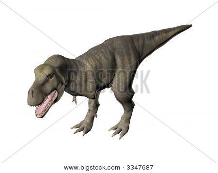 An illustration of the dinosaur Tyrannosaurus Rex poster
