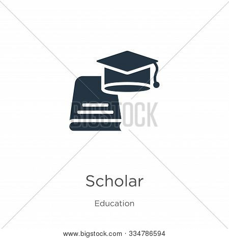 Scholar Icon Vector. Trendy Flat Scholar Icon From Education Collection Isolated On White Background