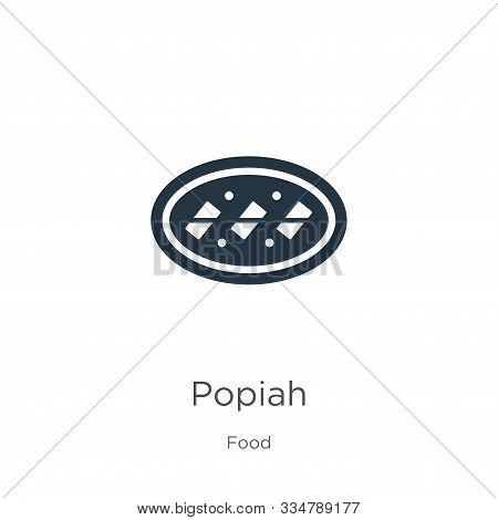 Popiah Icon Vector. Trendy Flat Popiah Icon From Food Collection Isolated On White Background. Vecto