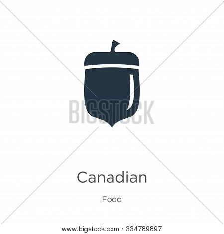 Canadian Icon Vector. Trendy Flat Canadian Icon From Food Collection Isolated On White Background. V
