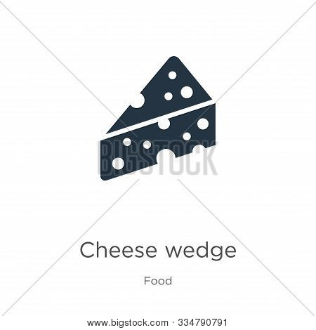 Cheese Wedge Icon Vector. Trendy Flat Cheese Wedge Icon From Food Collection Isolated On White Backg