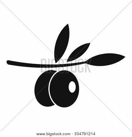 Olive Branch Icon. Simple Illustration Of Olive Branch Vector Icon For Web Design Isolated On White