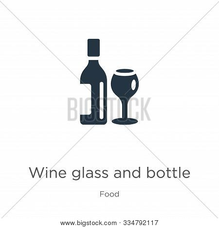 Wine Glass And Bottle Icon Vector. Trendy Flat Wine Glass And Bottle Icon From Food Collection Isola