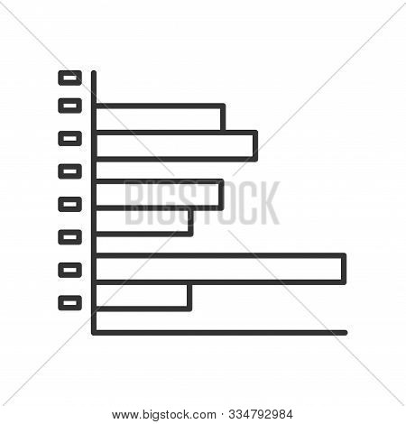 Infographic Clustered Bar Line Black Icon. Record Keeping Concept. Visual Comparison Of Data. Sign F