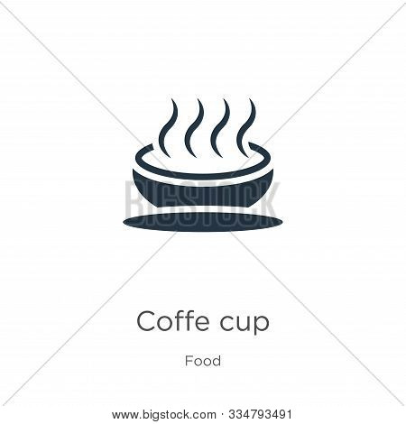 Coffe Cup Icon Vector. Trendy Flat Coffe Cup Icon From Food Collection Isolated On White Background.