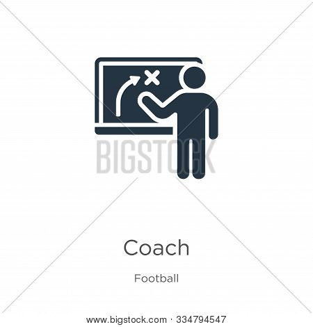 Coach Icon Vector. Trendy Flat Coach Icon From Football Collection Isolated On White Background. Vec