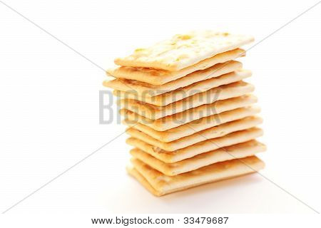 Mount Cookies On A White Background
