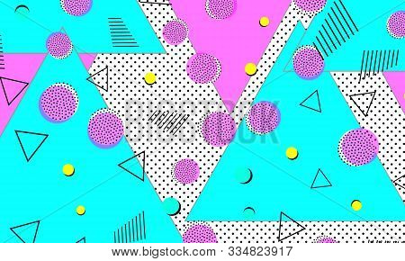 Magenta Doodle Banner. Navy Contemporary Cover. Hipster Composition. Kinder Texture. Violet Child Il