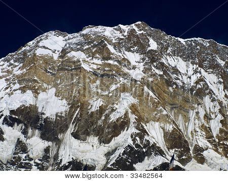 South Face of Mount Annapurna. Glaciers, rocks, snow. poster