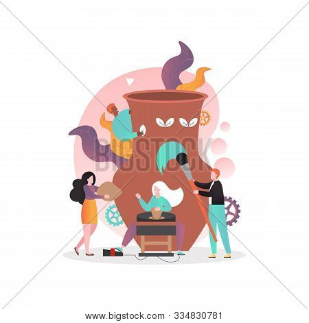 Pottery Vector Concept For Web Banner, Website Page