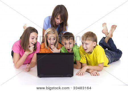 Kids With Computer