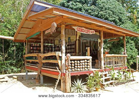 Ko Samui, Thailand - February 15, 2016: Geko Gift Shop With Books Collection From All Over The World