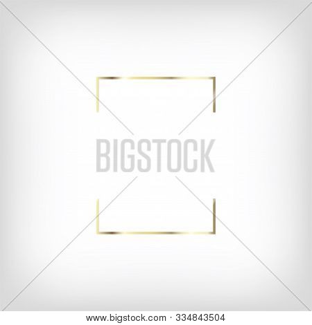 Rich Gold Christmas Or Wedding Frame. Luxury Vip New Year, Gift Certificate. Golden Invitation Borde